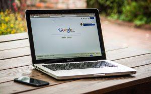 google on a laptop